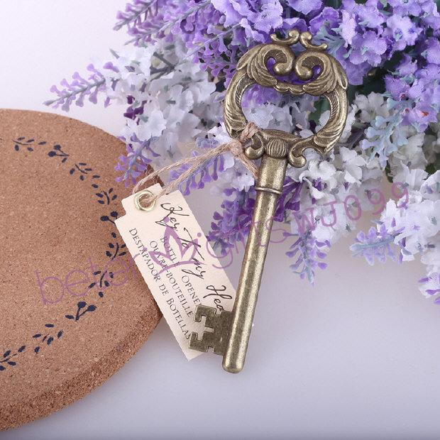 Free Shipping 100pcs Beach Theme Bridal Shower Key To My Heart ...