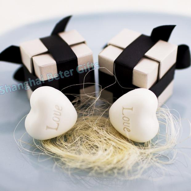 Mariage - Black Ribbon Heart Soap with Black Ribbon baby birthday party Ideas XZ000 Wedding inspiration from Reliable Event & Party Supplies suppliers on Shanghai Beter Gifts Co., Ltd.