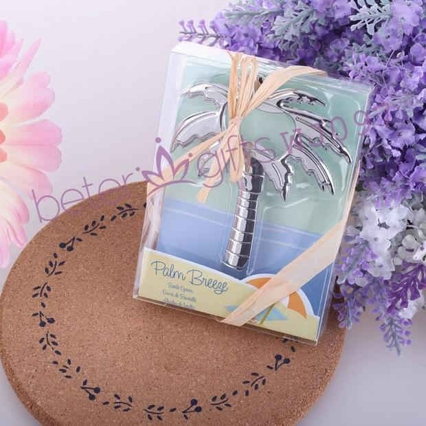 Mariage - 200pcs Palm Tree Opener baptism boutique party WJ097 from Reliable party favor box patterns suppliers on Shanghai Beter Gifts Co., Ltd.
