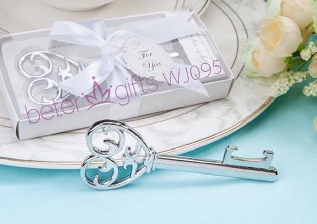 Free Shipping 100box Off White Box Key Bottle Opener Wedding Favor