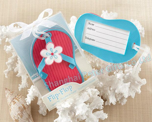 Mariage - Free Shipping 200box Flip Flop Luggage Tag seasonal favors and gifts ZH030 from Reliable gift material suppliers on Shanghai Beter Gifts Co., Ltd.
