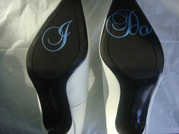 Wedding - I Do Shoe Sticker for Brides Shoes Something Blue for Wedding
