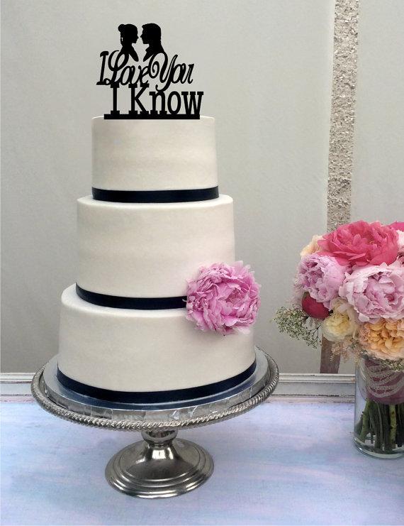 Star wars inspired wedding cake topper i love you i know han star wars inspired wedding cake topper i love you i know han solo princess leia han leia love you i know junglespirit Gallery