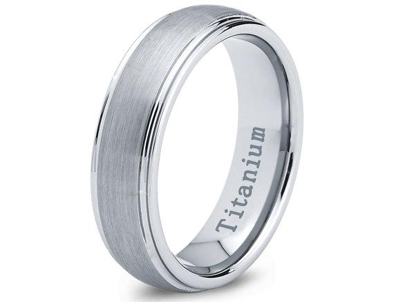 Mariage - Titanium Wedding Band, Men Titanium Rings, Mens Wedding Band, Titanium Wedding , Titanium Engagement Ring, Wedding Bands, Titanium Women