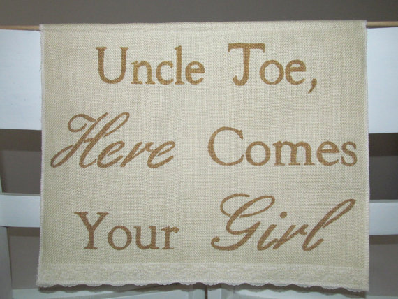 زفاف - Custom Colour Banner - Here Comes The Bride Sign - Ivory Burlap Banner - Custom Wedding Banner - Ring Bearer Sign