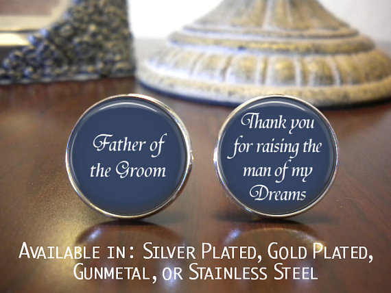 Mariage - Father of the Groom Cufflink - Personalized Cufflinks - Father of the Groom Gift - Wedding Jewelry