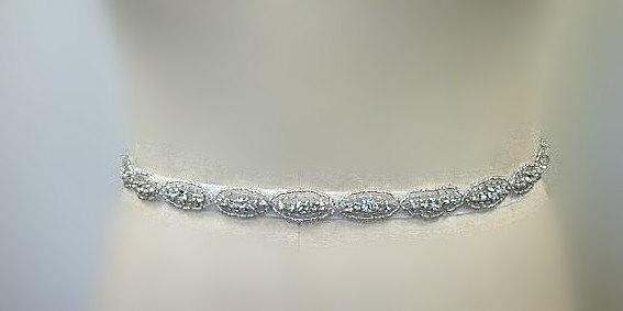 Mariage - SALE Wedding Belt, Bridal Belt, Sash Belt, Crystal Rhinestone Sash  , seed beads sash belt