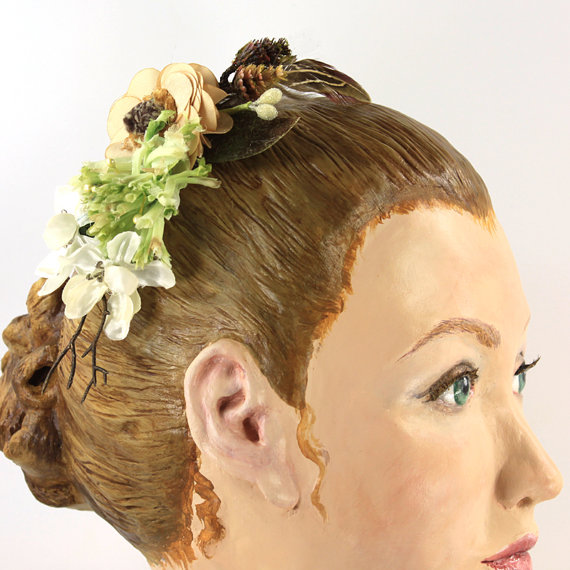 Düğün - Woodland Hair Clip Comb Headband Wedding Wear