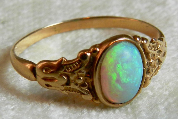 Victorian Opal Ring Opal Engagement Ring, Antique ...
