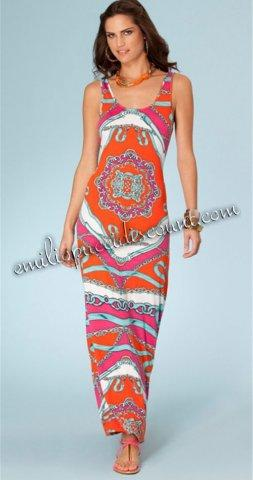 Wedding - Emilio Pucci Strech Rayon Knit Tank Maxi dress sale