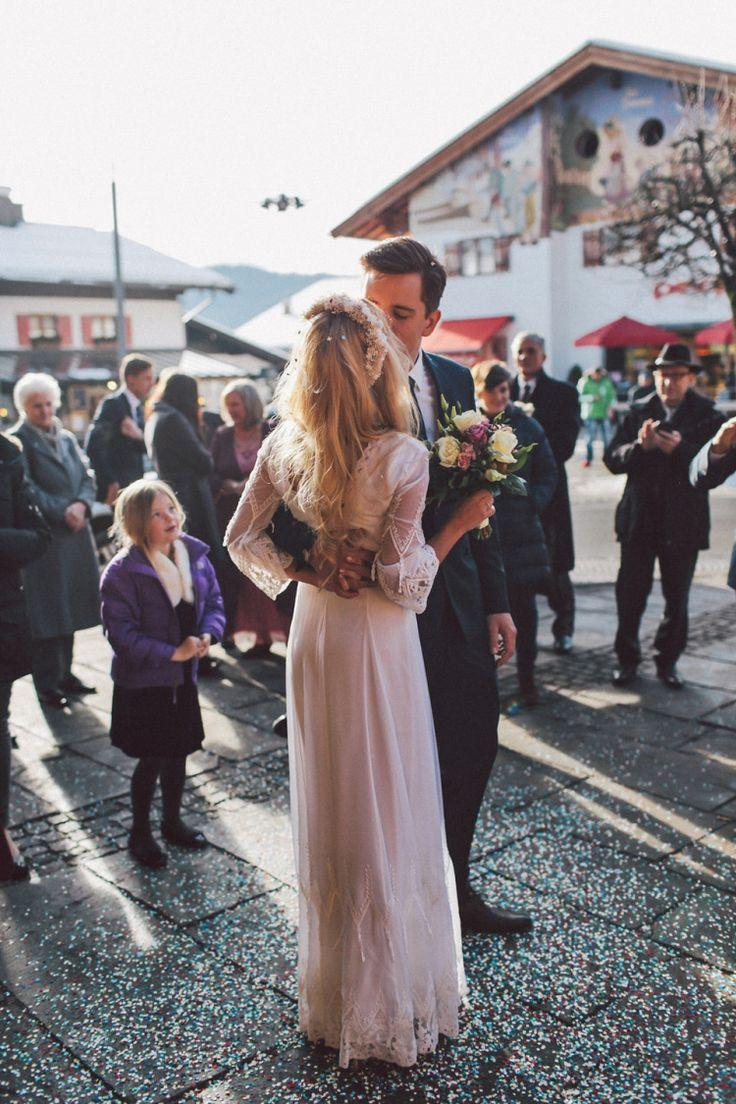 Свадьба - Two Free People Wedding Dresses For A Hippie And Romantic Inspired Snowy Celebration In Germany