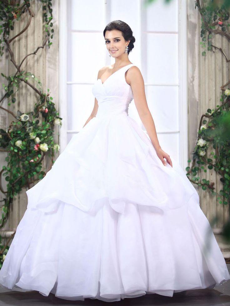 One shoulder strap wedding dress inspiration 2312505 for Wedding dresses one strap