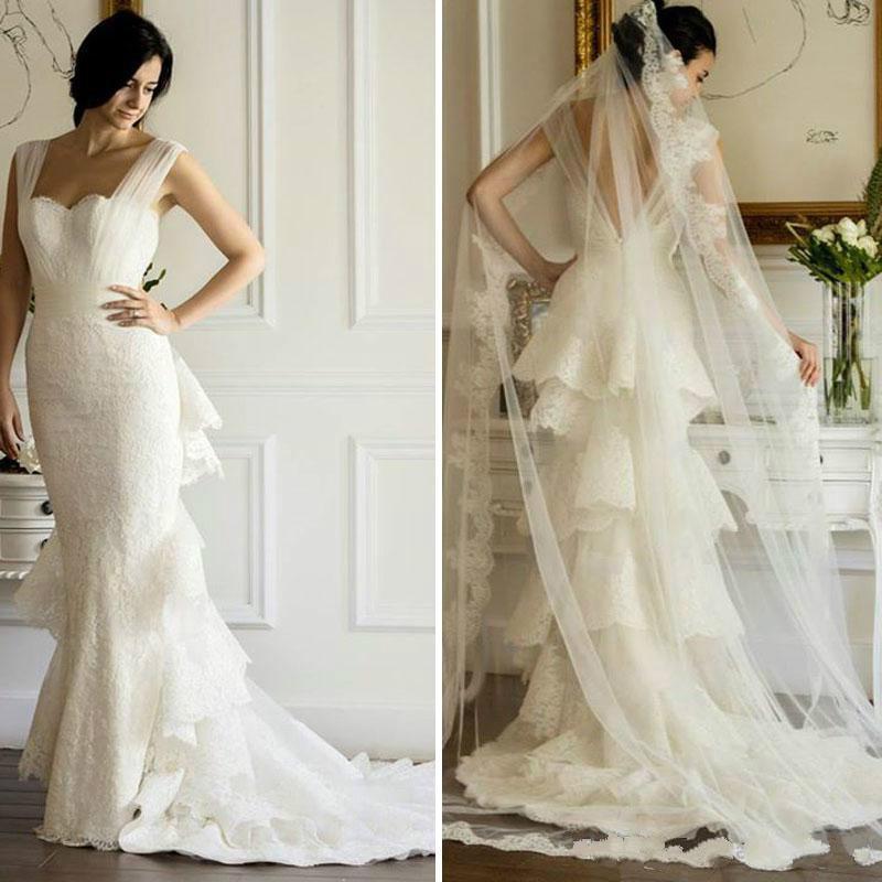 2015 mermaid spring appliques wedding dresses maison yeya for Cheap custom wedding dresses