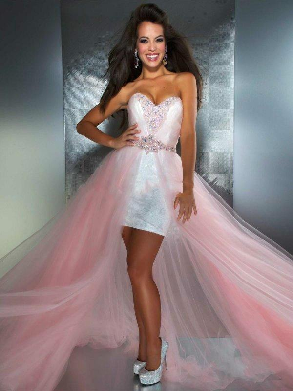 Mariage - Sexy Sheath 2014 High-low Beauty High Quality Pink Beads Sleeveless Sweetheart Crystal Sash Cocktail Dress Party Dresses Online with $96.76/Piece on Hjklp88's Store