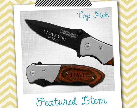 Свадьба - Groomsmen Gifts 1 PERSONALIZED Knife Engraved Knife Engraved Pocket Knife Hunting Knife Rescue Knife Custom Groomsman Gifts Gift for Men
