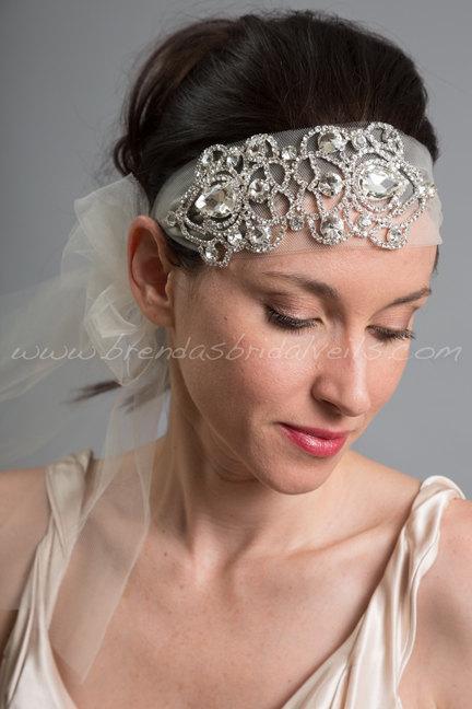 1920s Flapper Style Bridal Hairband 51a359af8b0