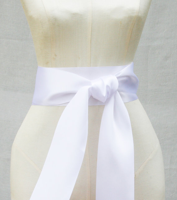 white ribbon sash 3 inch width x 144 inches length 4