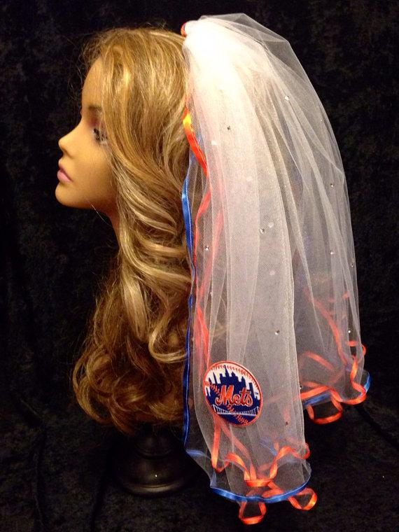 Mariage - New York Mets Bachelorette Veil