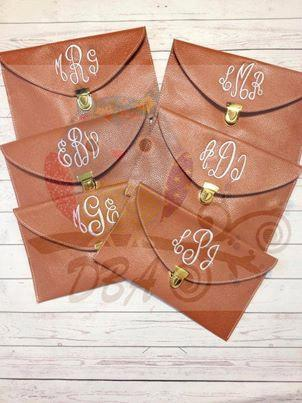 Mariage - Set of (6) Monogrammed Clutch Purse - Wedding Party