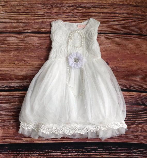 Flower Girl Dresses In Soft White 16