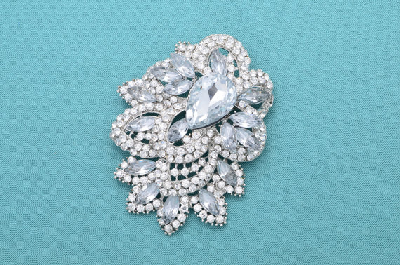 زفاف - Rhinestone Wedding Brooch Silver Brooch Rhinestone Bridal Brooch Wedding Accessories