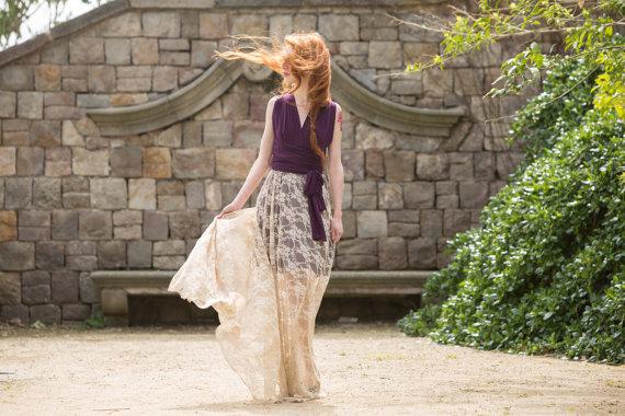 Свадьба - Detachable lace skirt for long dress, detachable long skirt for wedding gown, make your wedding lace dress, add a lace long skirt to dress