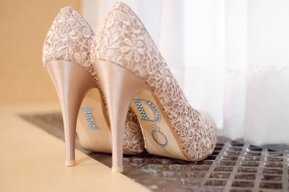 """Mariage - SILVER """"I Do"""" Stickers for Wedding Shoes"""