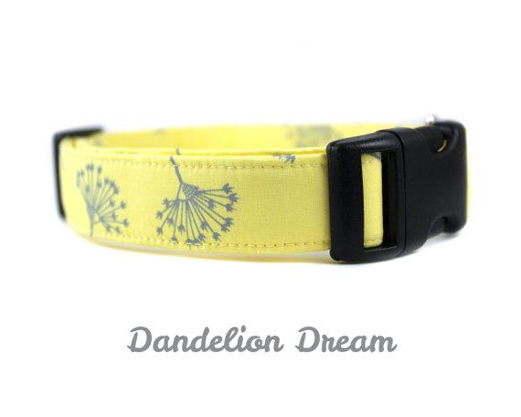 Hochzeit - Yellow Dog Collar - Dandelion Dream