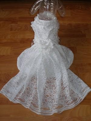 Hochzeit - Custom Dog WEDDING dress or outfit - bride groom bridesmaid - prices vary by size and number of pieces