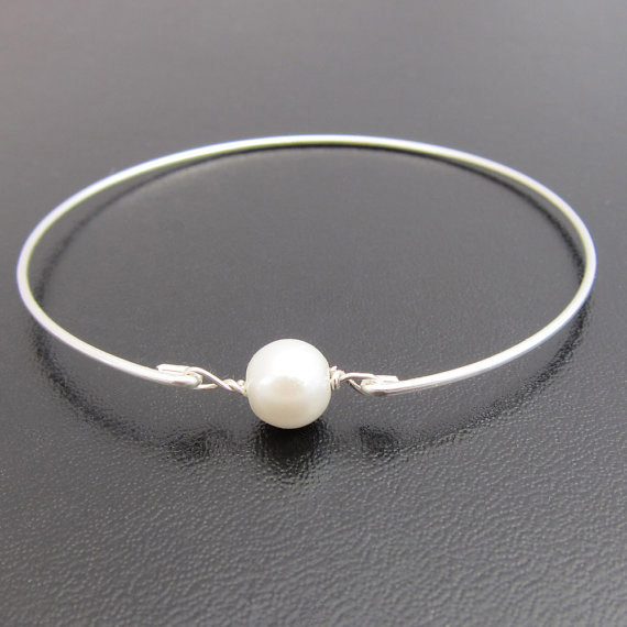 bangles delicate bracelet pearl bangle gold media rose