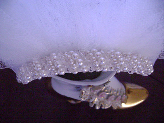 Mariage - Swarovski Crystal & Pearl Comb/Diamond White Pencil Edge veil 25 X 30 X72/scattered pearls or crystals on Elbow lenght veil