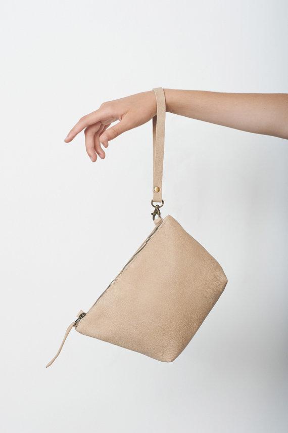 Mariage - Leather Clutch Bag, Wedding Clutch, Bridesmaid Clutch, Evening Bag