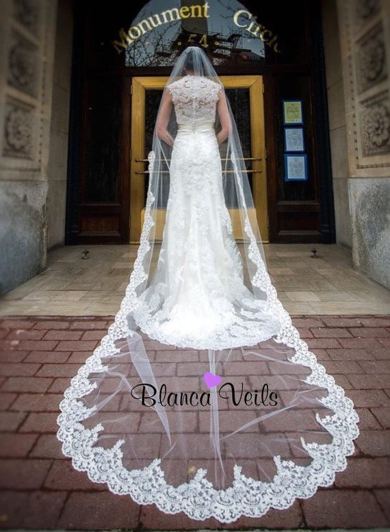 Wedding - Beautiful Lace Wedding Veil