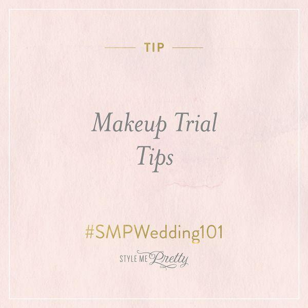 Свадьба -  – Makeup Trial Tips
