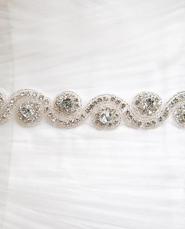 Mariage - Wedding dress Bridal Sash,Wedding Dress Sash Belt, Floral Rhinestone Sash,  Rhinestone Bridal Bridesmaid Sash Belt, Wedding dress sash