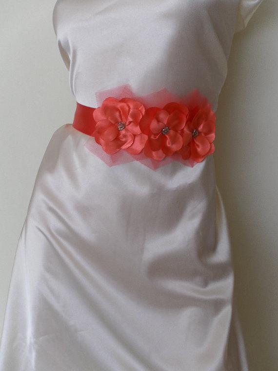 Mariage - Bridal sash, bridal belt, wedding belt, bridesmaids belt, wedding sash, satin sash