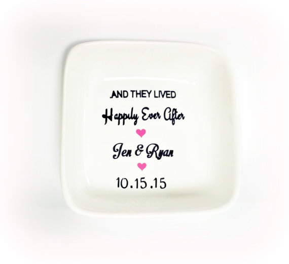 Mr And Mrs Ring Dish, Happily Ever After, Wedding Ring Bowl ...