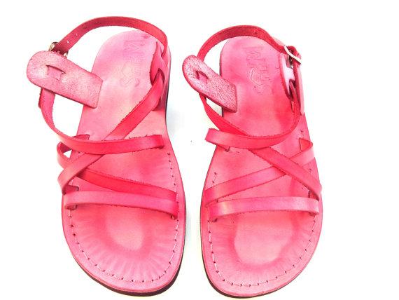 Wedding - SALE ! New Leather Sandals LONDON Women's Shoes Thongs Flip Flops Flats Slides Slippers Biblical Bridal Wedding Colored Footwear Designer