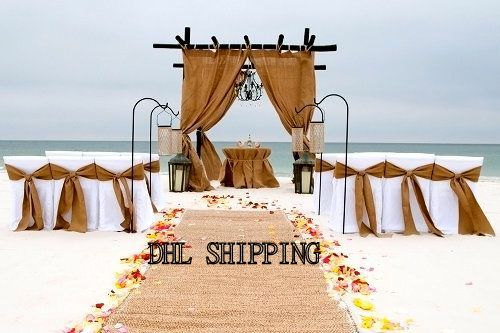 Diy Beach Wedding 4 Burlap Panels 15 Burlap Chair Sashes