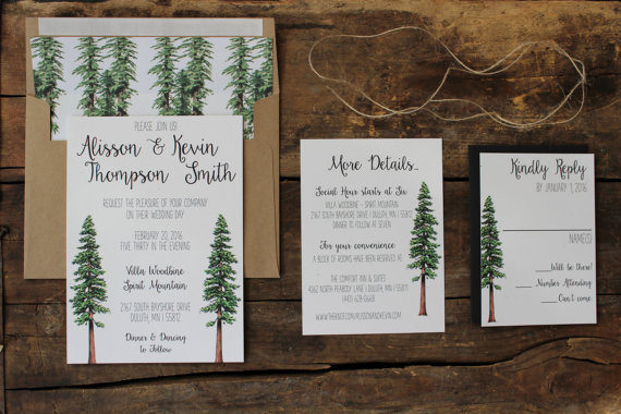 Forest Wedding Invitations was very inspiring ideas you may choose for invitation ideas