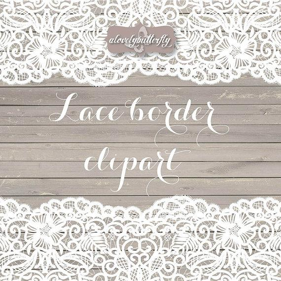 VECTOR Wedding Clipart Lace Border Rustic Shabby Chic Bridal Shower INSTANT DOWNLOAD