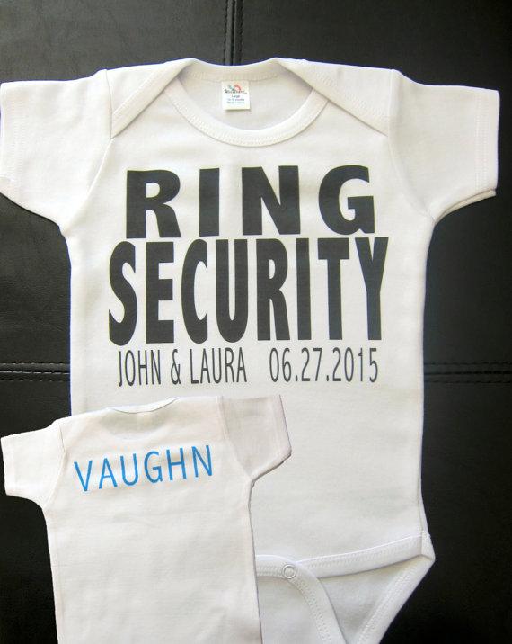 Свадьба - Personalized RING SECURITY ring bearer t-shirt or onesie wedding getting married bride groom
