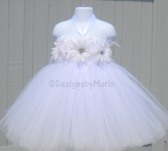 White Tutu Dress PICK ANY SIZE White Pageant Dress Size 6t 6x 6 7 ...
