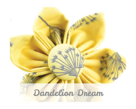 Hochzeit - Yellow Dog Collar Flower - Dandelion Dream