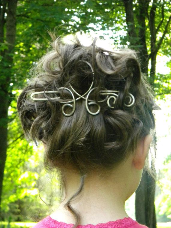Свадьба - Hair Stick, Hair, Clip, Silver, Hair Clip, Hair Accessories, Hair Slide, Hair Sticks, Hair Pins, Barrettes, Wedding Accessories, Women, Gift