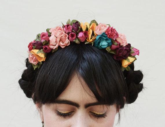 Frida Flower Crown - Colorful Flower Headpiece 1e459a63b30