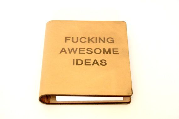 Mariage - F-ing Awesome Ideas Leather Journal