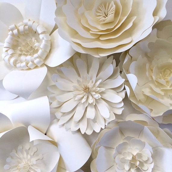 Свадьба - Paper Flower Wall Decor, Large Paper Flower Backdrop, Giant Paper Flowers, Paper Flower Backdrop, Photo Shoot Props, Paper Flower Decor