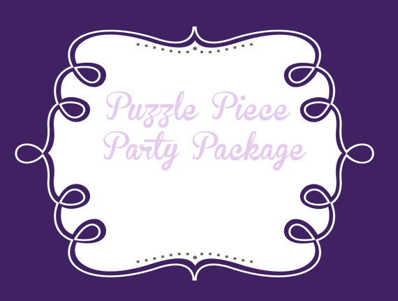 Свадьба - Party Package add ons, choose your pieces to complete your PuzzlePrints party