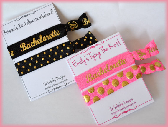 Custom Hair Tie Bachelorette Party Favor. Bachelorette Hair Ties ... 519d27497bd
